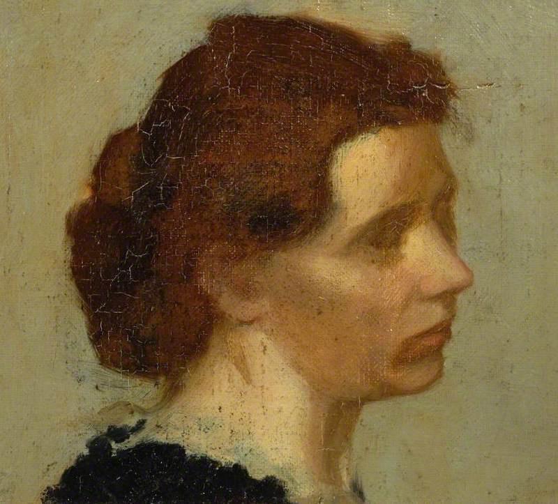 Edgar Degas. Head of a woman