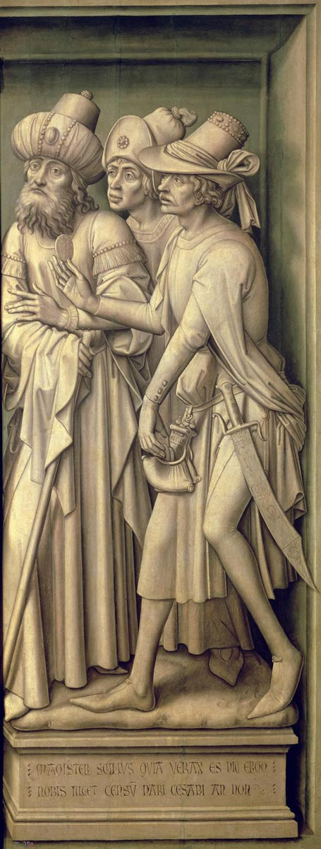 Rogier van der Weyden. The Redemption Triptych (detail)