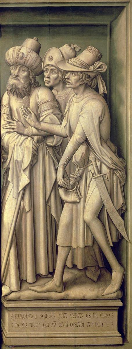 Rogier van der Weyden. The Redemption Triptych (detail)