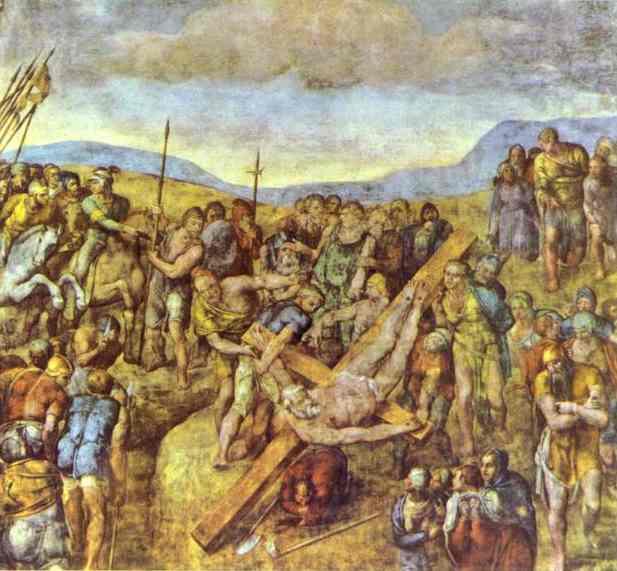 Микеланджело Буонарроти. Распятие Св. Петра