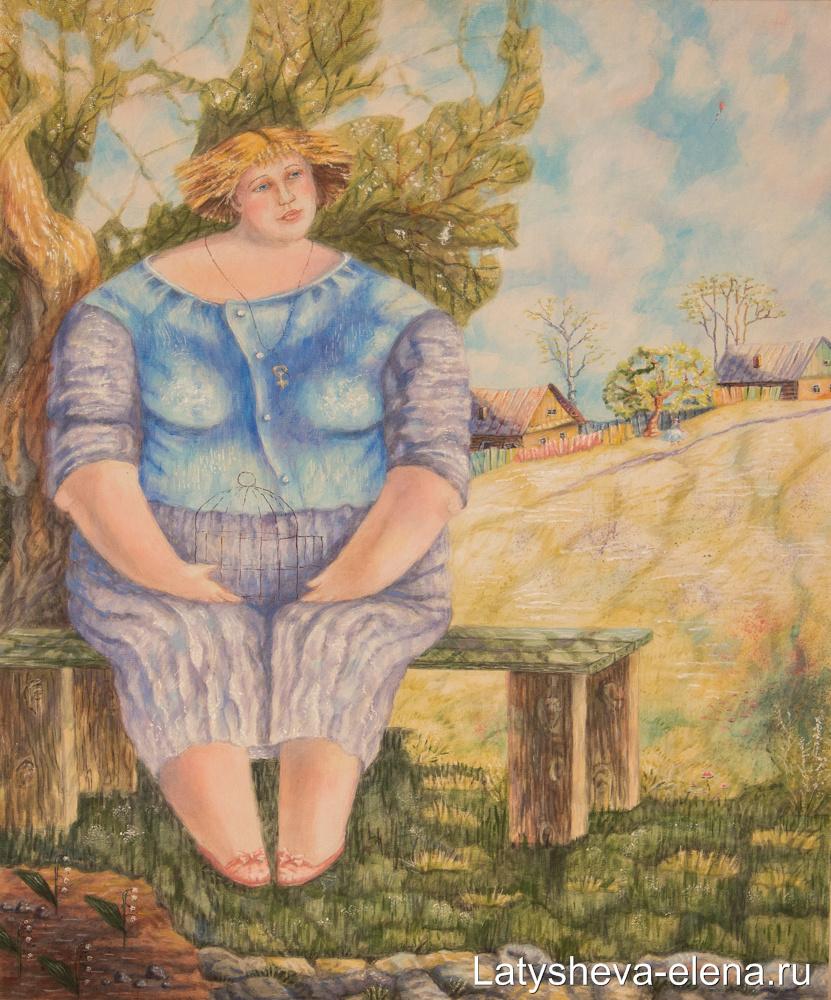 Elena Alekseevna Latysheva. Listening nightingale