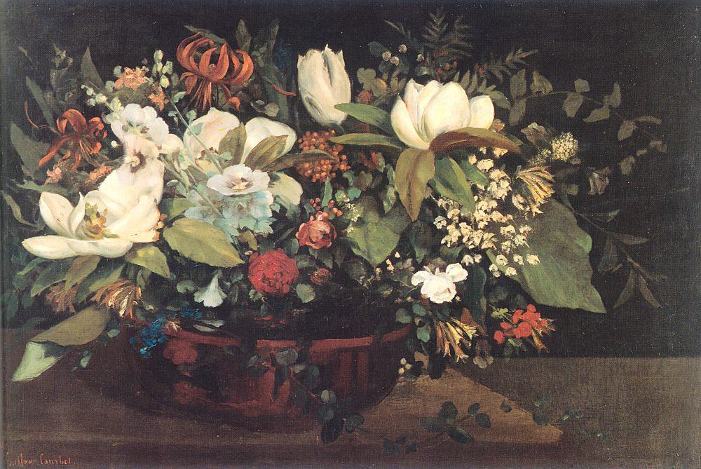 Гюстав Курбе. Корзина с цветами