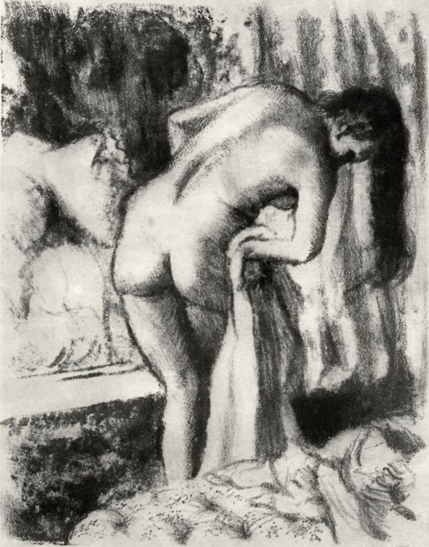 Edgar Degas. After the bath