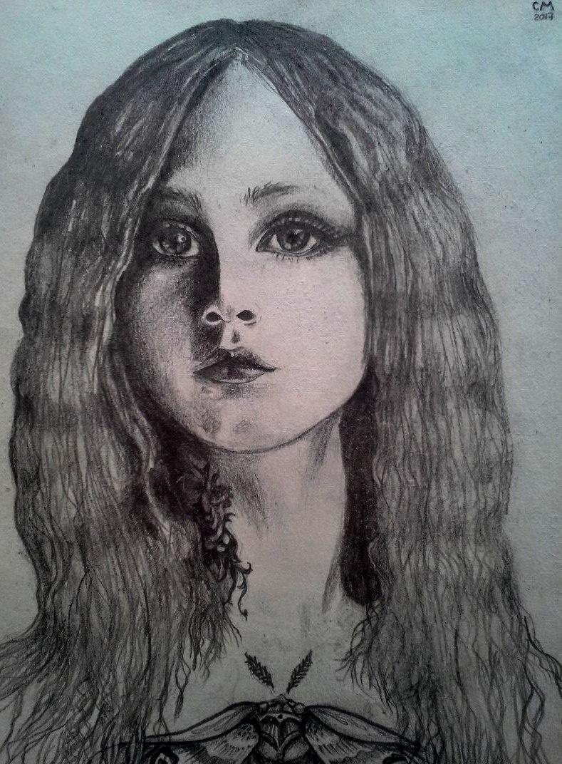 Svetlana Makarova. Portrait of a girl