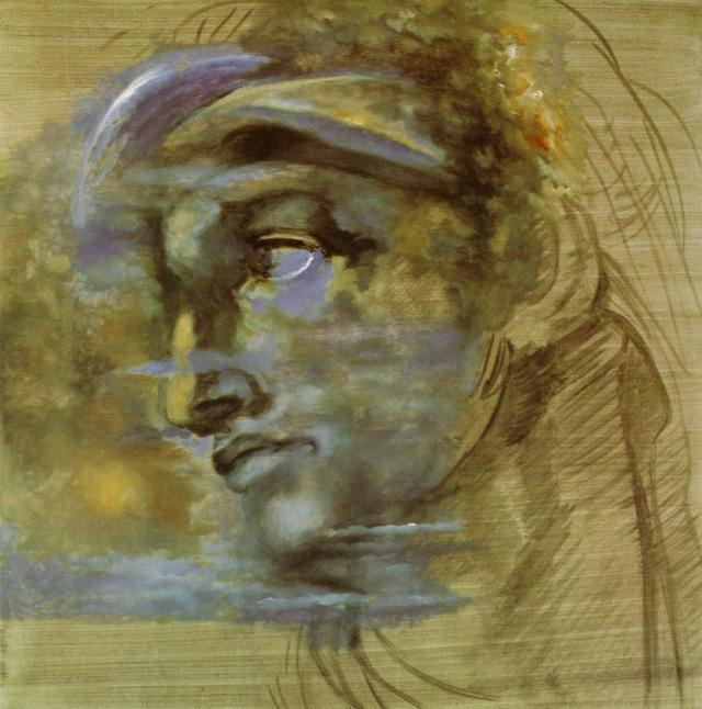 Salvador Dali. Head of Giuliano de Medici Michelangelo