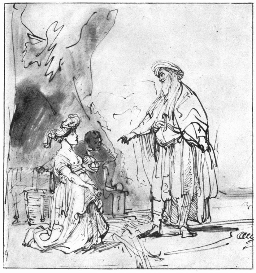 Рембрандт Харменс ван Рейн. Вооз встречает Руфь