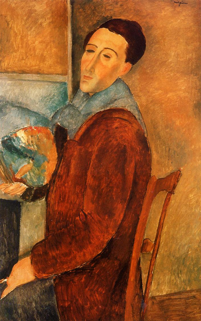 Amedeo Modigliani. Self-portrait