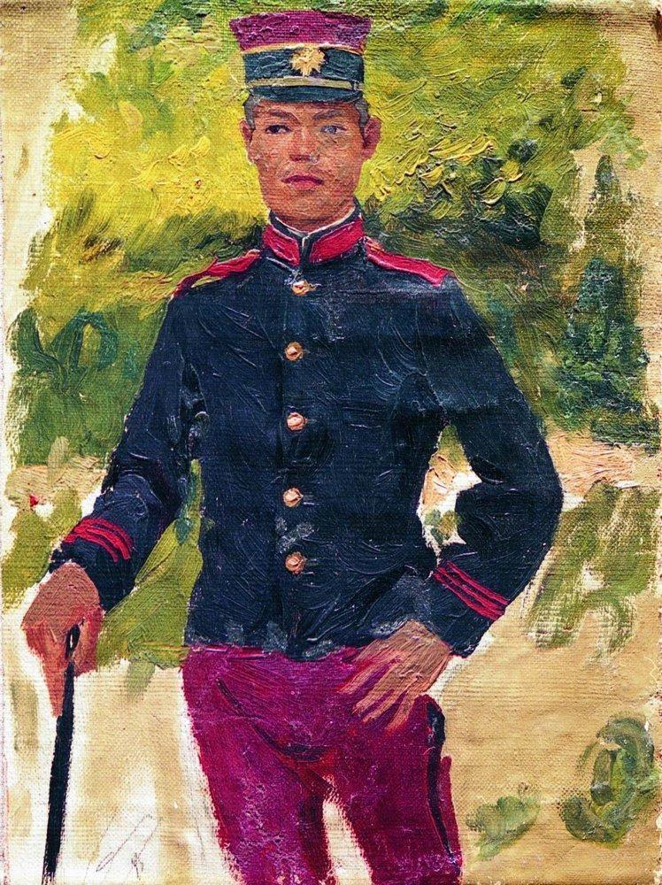 Илья Ефимович Репин. Молодой солдат. Парижский тип