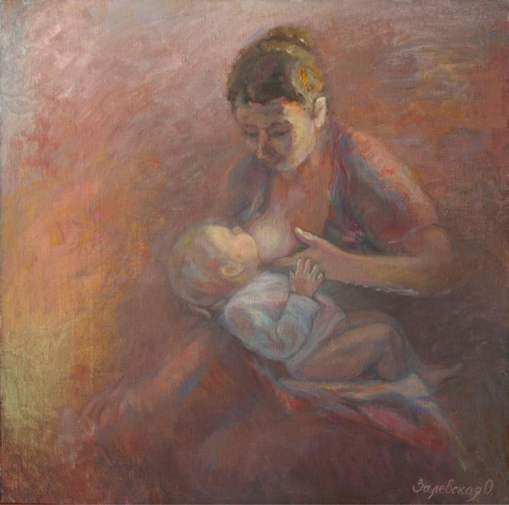 Oksana Viktorovna Zalevskaya. Motherhood