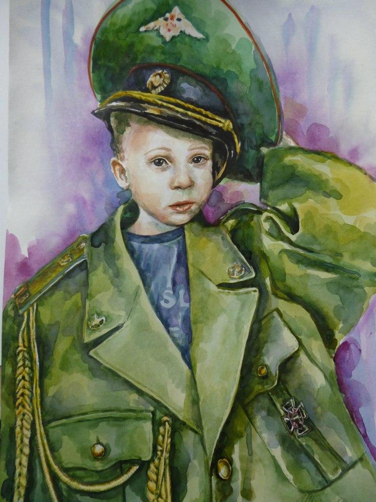 Sharigina Vera. I will serve in the border troops