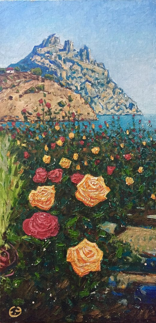 "Eugene Alexandrovich Urvantsev. ""Roses Karadag"""