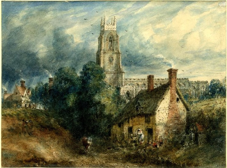 John Constable. Stoke-by-Nayland, overlooking the cottage in the Dell
