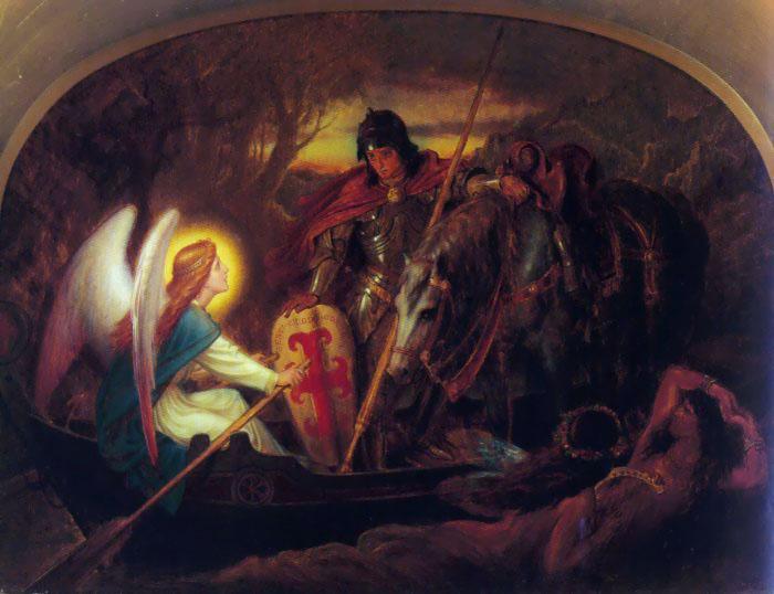 Joseph Noel Paton. As the angel was carrying the sir Galahad