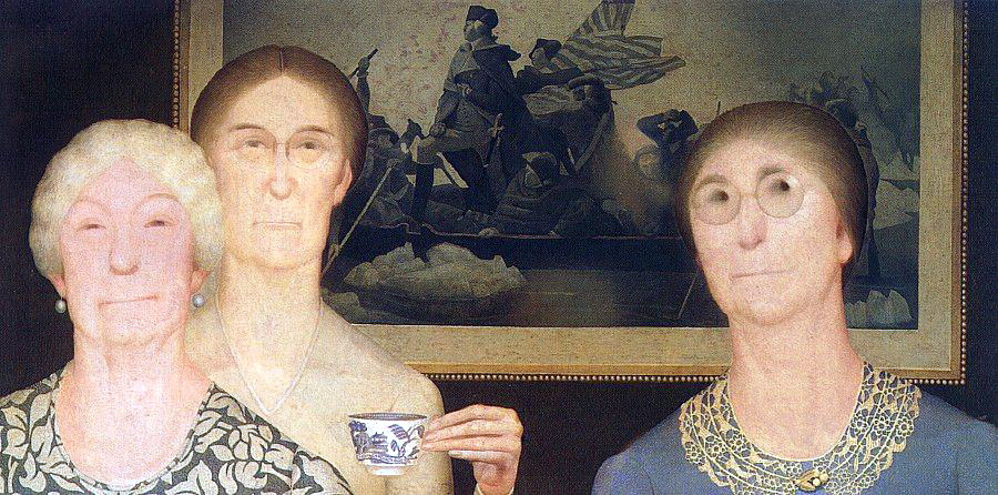 Grant Wood. Daughters of the revolution
