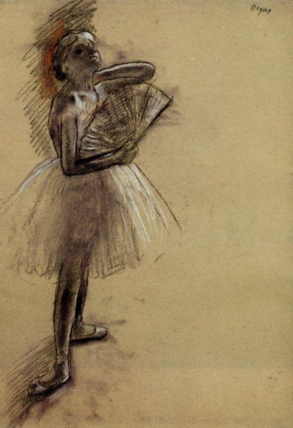 Эдгар Дега. Балерина с веером