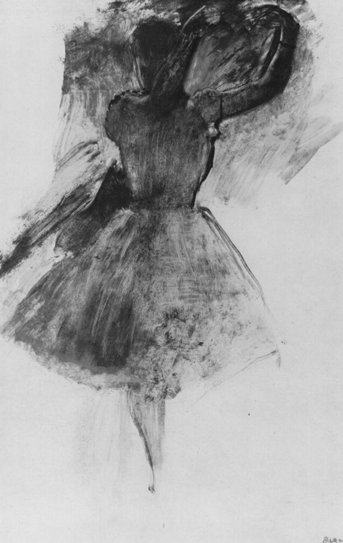 Edgar Degas. Dancer with raised arms
