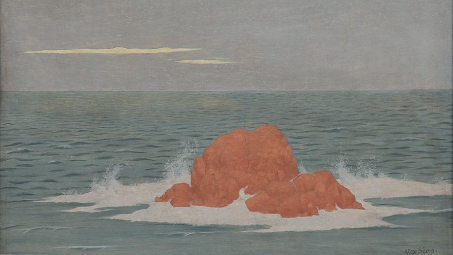 Александр Сеон. Sea, waves (La Mer, la houle), 1903 Oil on wood, 15,5 x 23,7 cm