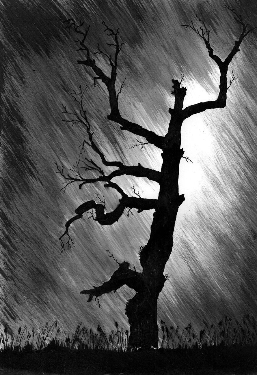 Vladimir Vasilyevich Abaimov. Old Tree in a Thunderstorm
