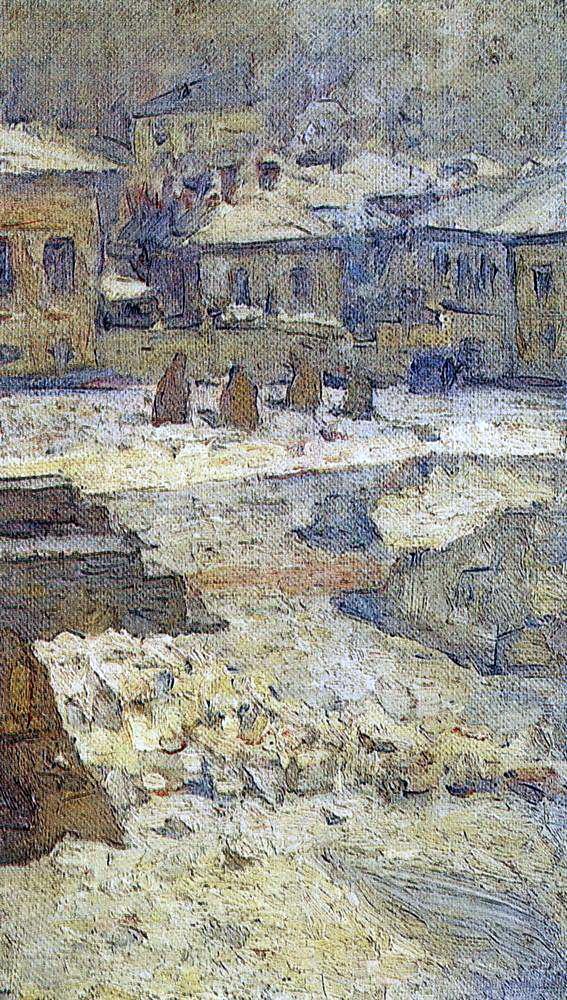 Василий Иванович Суриков. Сквер перед Музеем изящных искусств