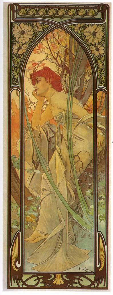 "Alfons Mucha. Evening reverie. From the series ""Times of day"""