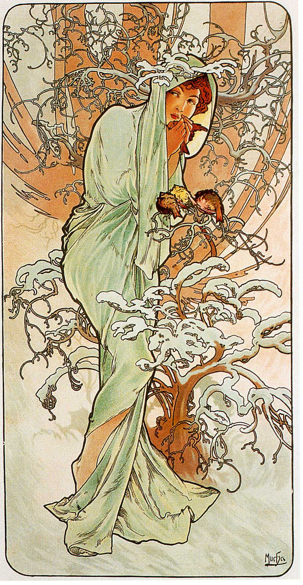 """Alfons Mucha. Winter. From the series """"the seasons"""""""
