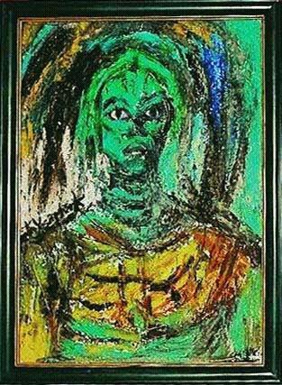 Metin Yaartrk. Green face