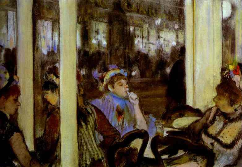 Эдгар Дега. Женщины на террасе кафе вечером