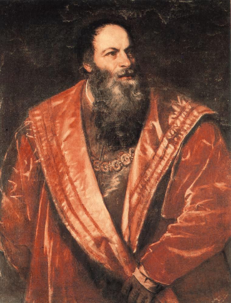 Тициан Вечеллио. Портрет Пьетро Аретино