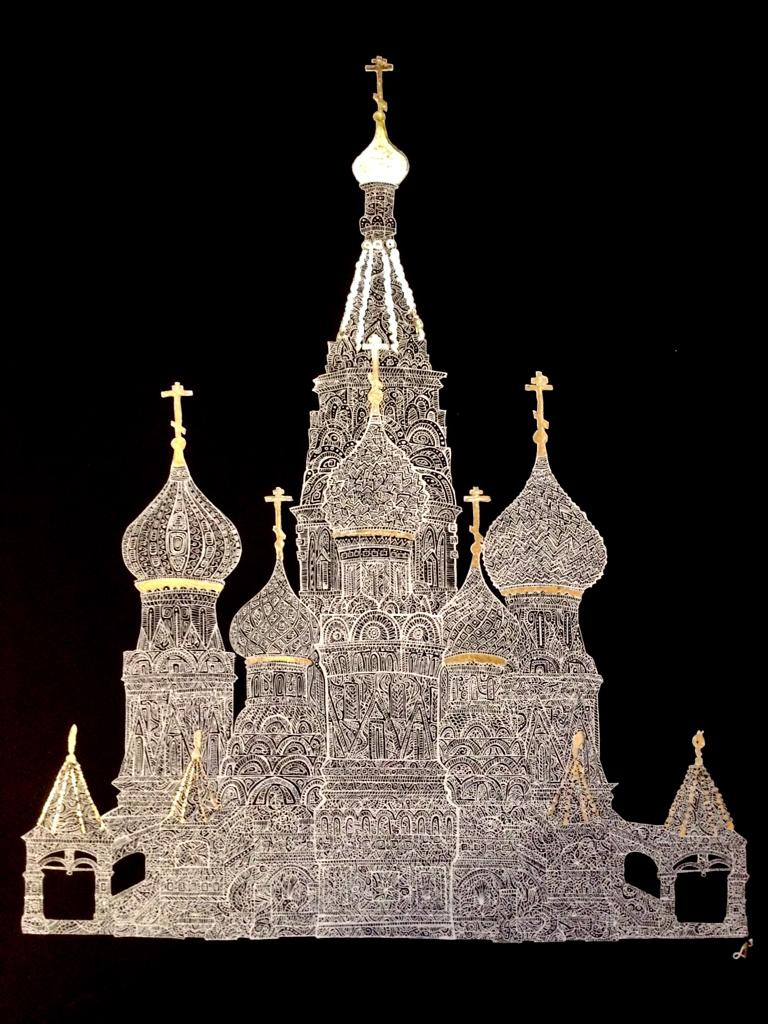 Anastasia Andreevna Ashunina. St. Basil's Cathedral