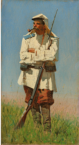 Vasily Vasilyevich Vereshchagin. Turkestan soldier in uniform