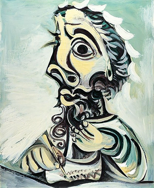 Пабло Пикассо. Бюст пишущего мужчины 2