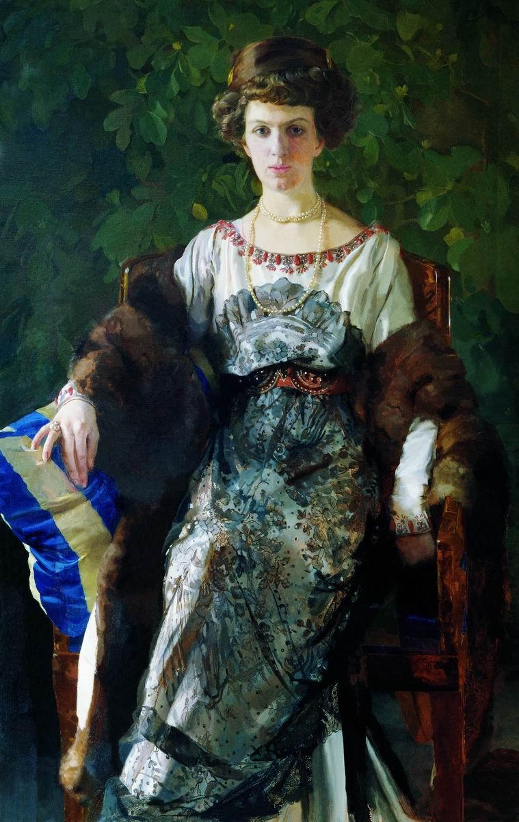Konstantin Somov. Portrait Efimia Pavlovna Bow