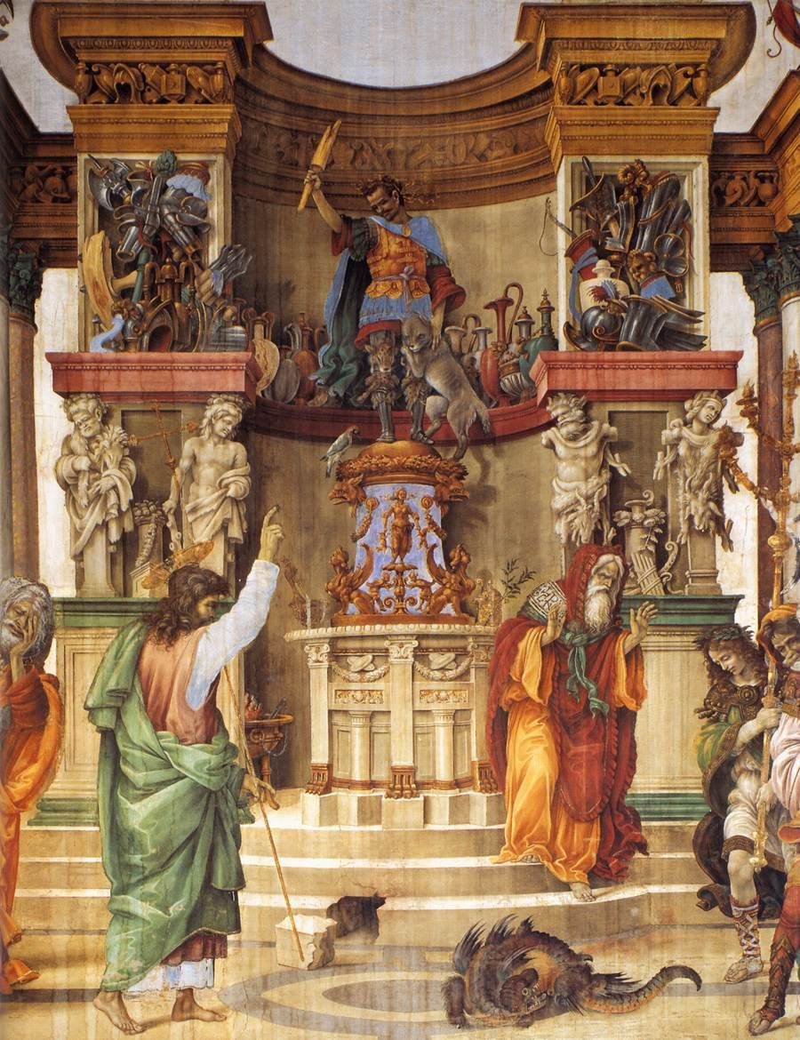 Filippino Lippi. St. Philip exorcising the dragon from the temple