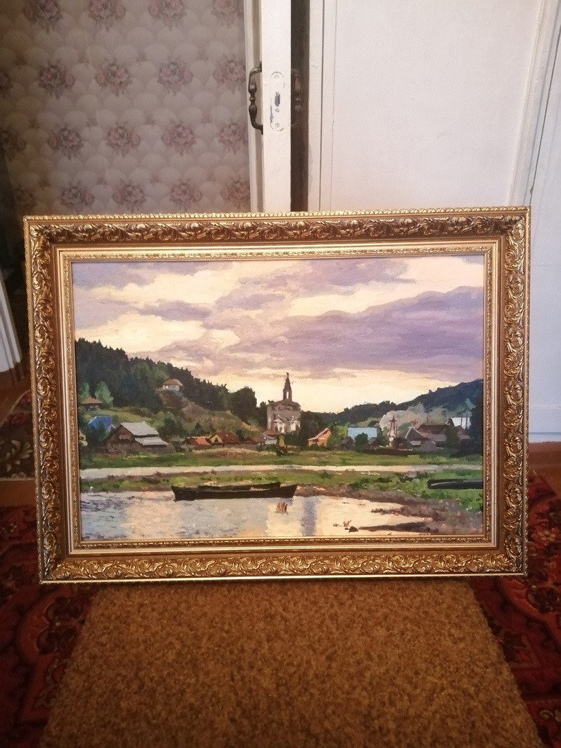 Vladislav Olegovich Mandrygin. Rural landscape. Chusovaya River (copy)