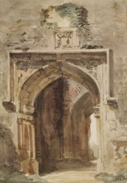 John Constable. The Church of the East Berghold, South arch of the ruined tower