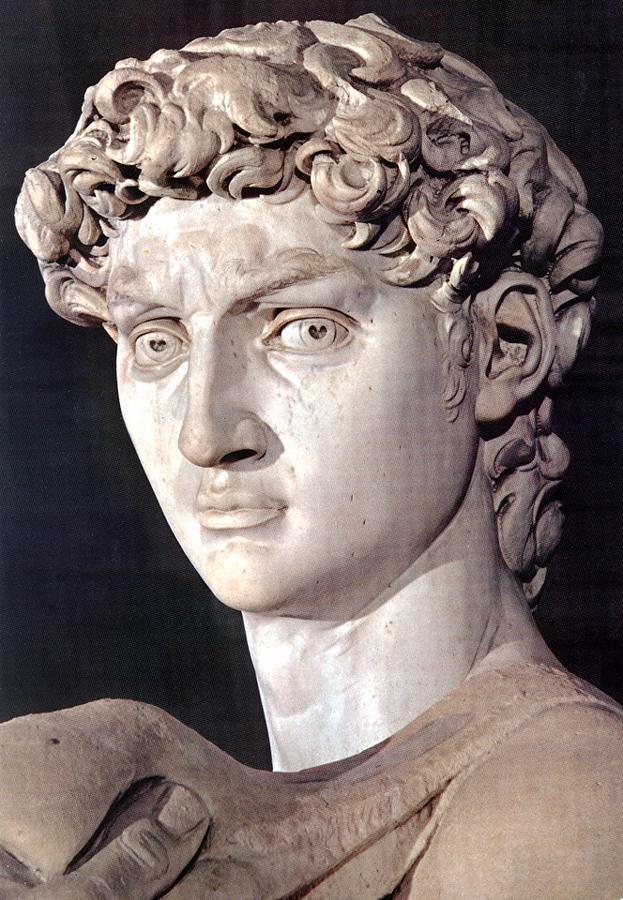 Микеланджело Буонарроти. Давид. Фрагмент. Голова.