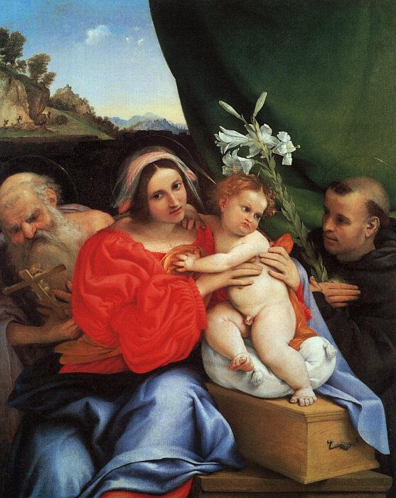 Лоренцо Лотто. Мадонна с ребенком