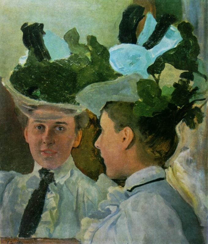 Константин Андреевич Сомов. Дама у зеркала