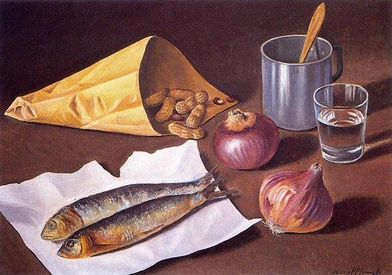 Анхель Планеллс. Натюрморт с рыбой