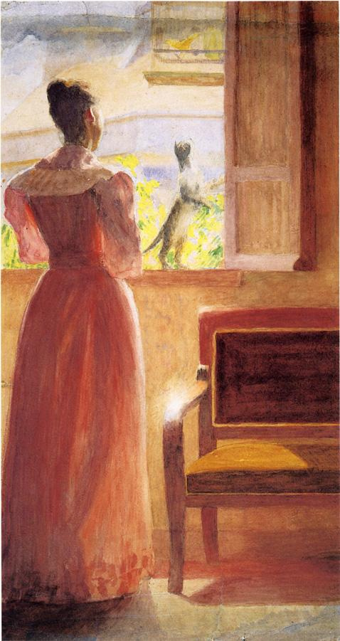 Томас Поллок Аншутц. Девушка у окна