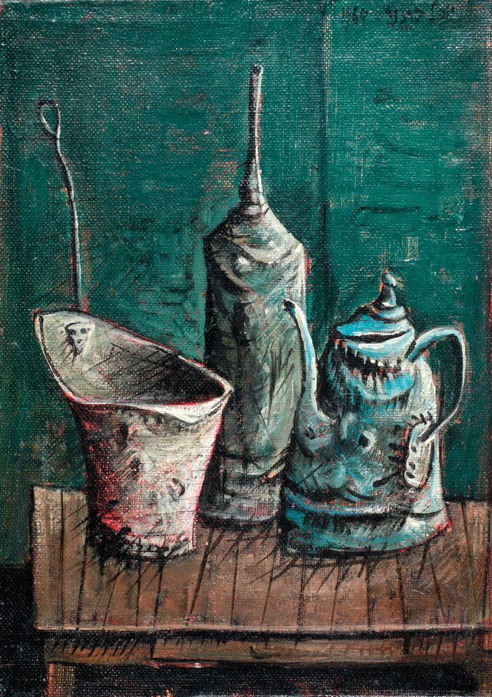 Yosl Bergner. Crockery and kettle