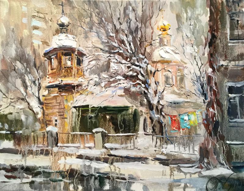 Анна Анатольевна Чарина. Зима в 1-м Монетчиковском переулке