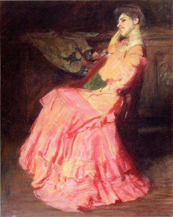 Томас Поллок Аншутц. Девушка в розовом платье