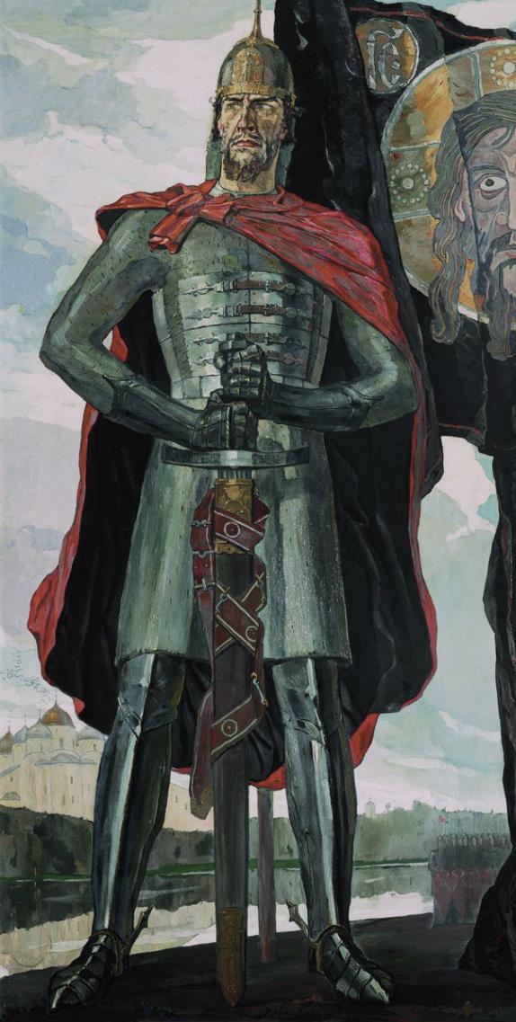 Pavel Dmitrievich Korin Russia 1892 - 1967. Alexander Nevskiy. 1942 State Tretyakov Gallery, Moscow