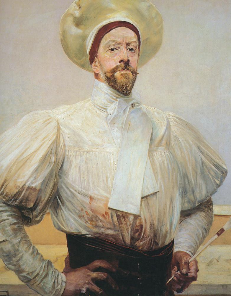 Яцек Мальчевский. Автопортрет в белом