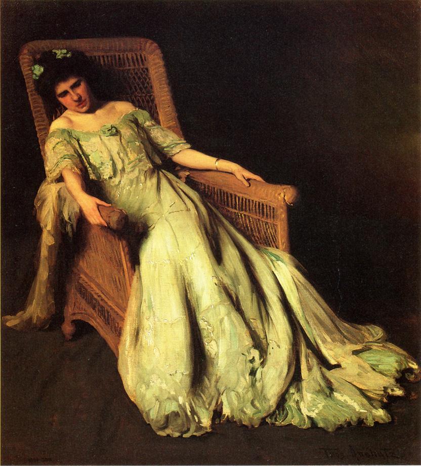 Томас Поллок Аншутц. Сидящая в кресле девушка
