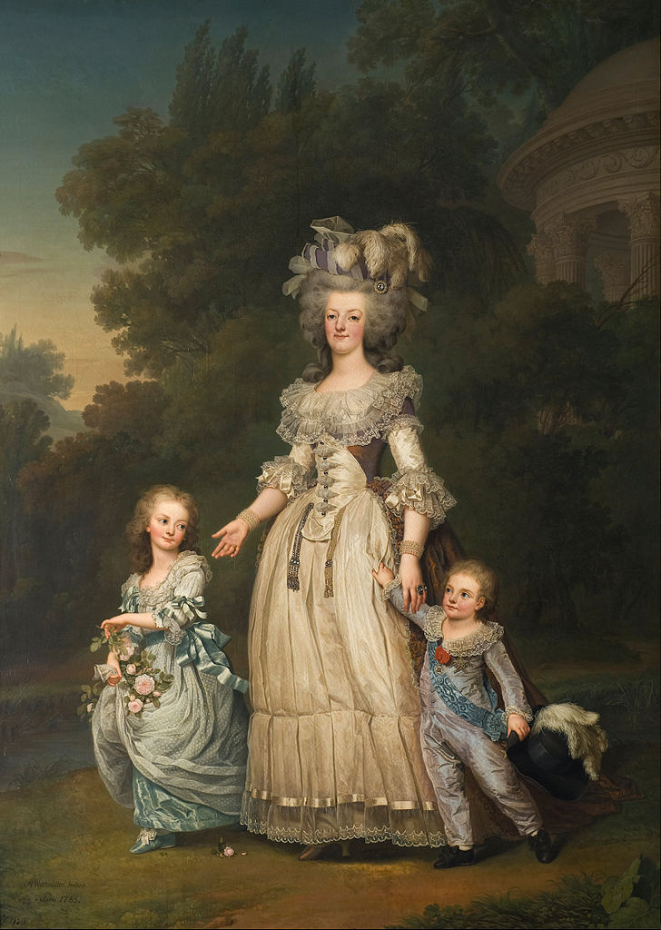 Адольф  Ульрих Вертмюллер. Мария-Антуанетта с детьми в саду