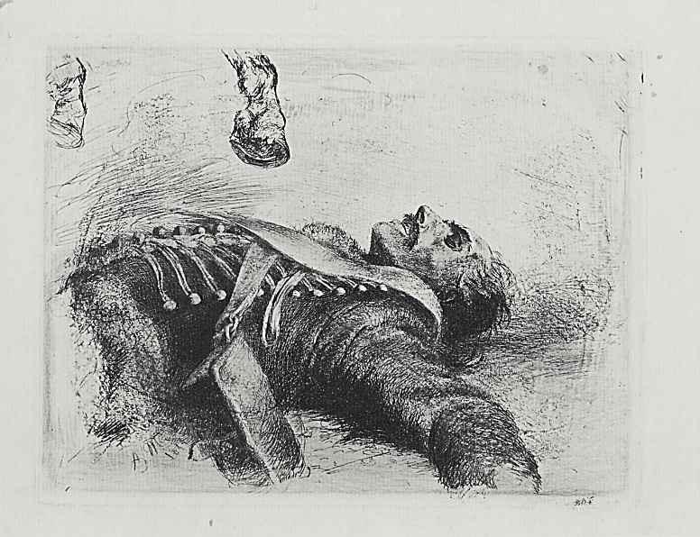 Адольф фон Менцель. Мертвый гусар, четвертое состояние