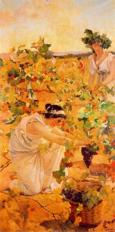 Хоакин Соролья (Соройя). Сбор винограда