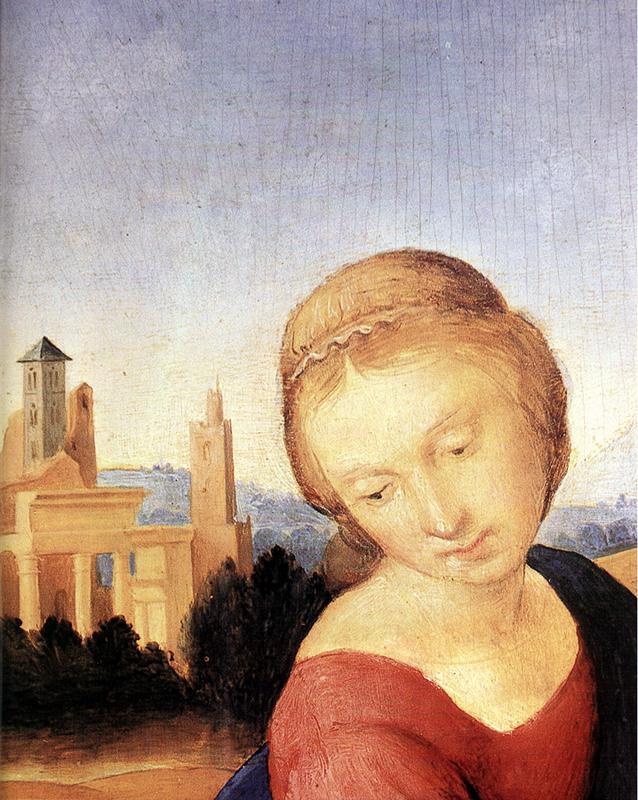 Рафаэль Санти. Мадонна с Младенцем и Иоанном Крестителем (Мадонна Эстерхази). Фрагмент